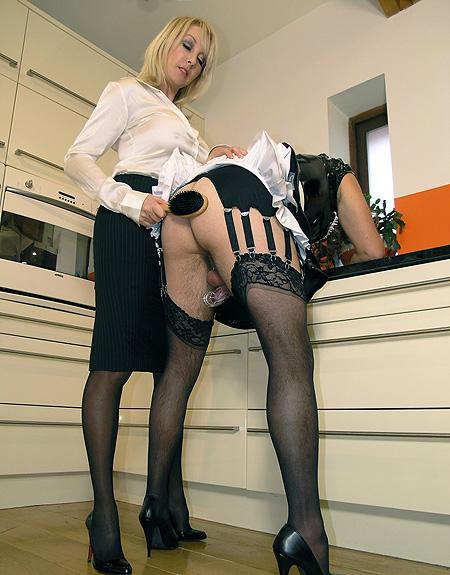 Stockings sissy in cuckold