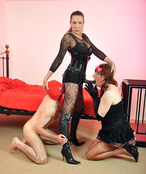 Two sissy slaves